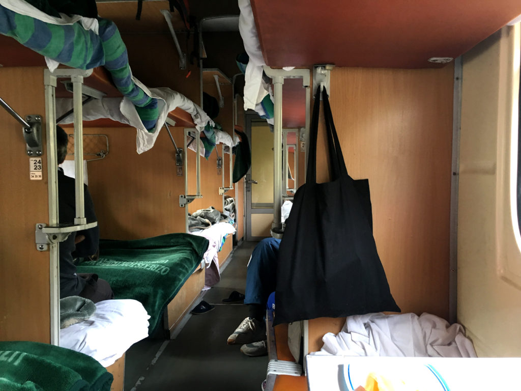 The 3rd class of an Uzbek train and the comfy beds