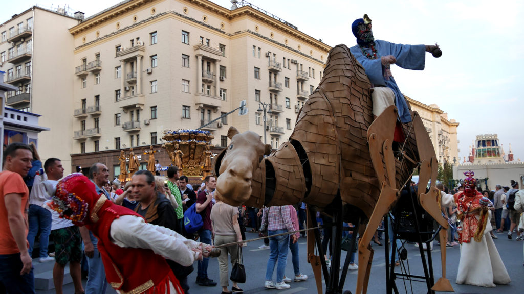 The camel caravan