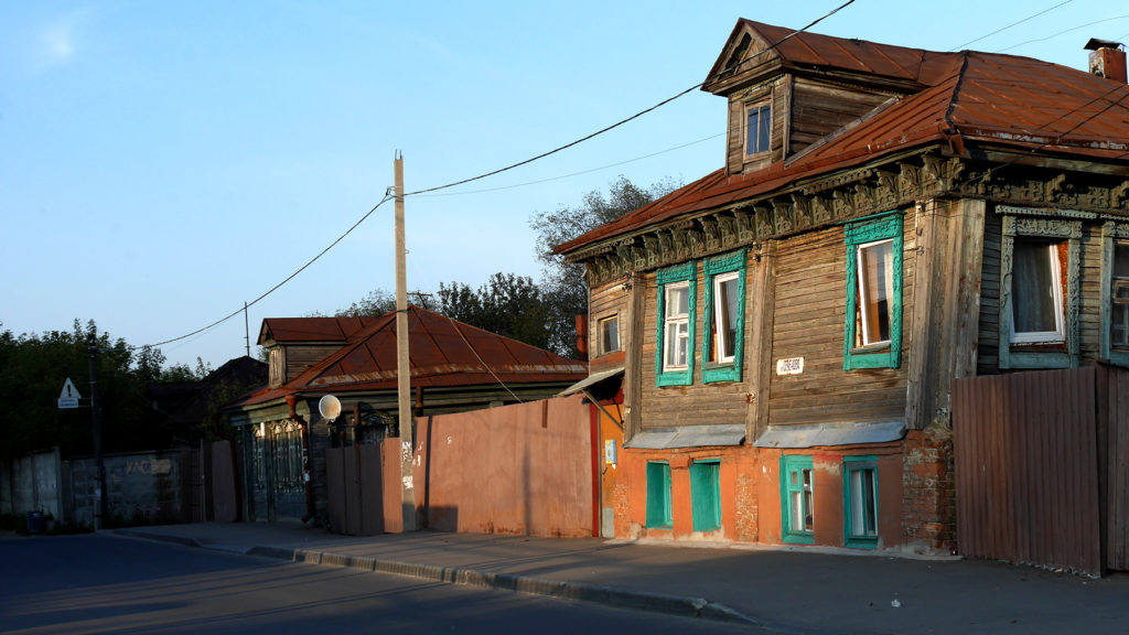 Some cute wooden houses in Nizhny Novgorod