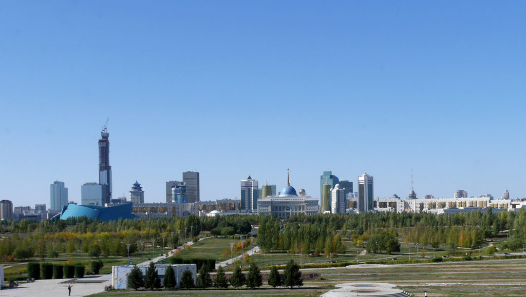 The high buildings of Nur-Sultan