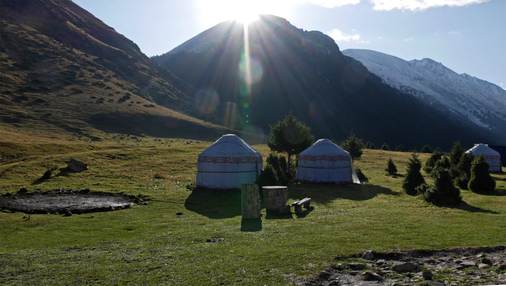Some of the smaller yurts