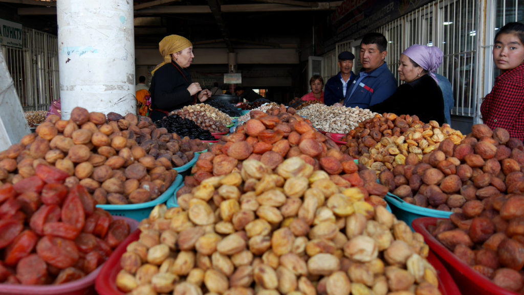 We often buy dried fruits and nuts from the bazaars as a travel snack