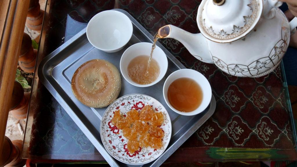 Jujube tea, nan and huge junks of sugar