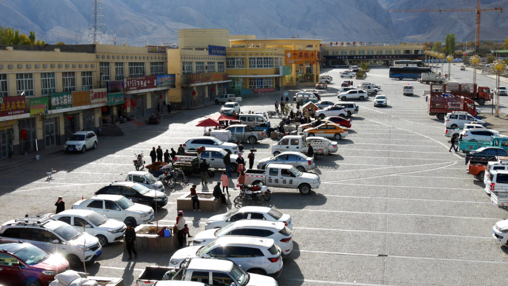 The parking lot next to K2 hostel was always busy