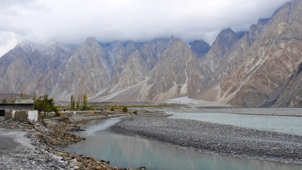 The Passu Cones behind the Hunza River