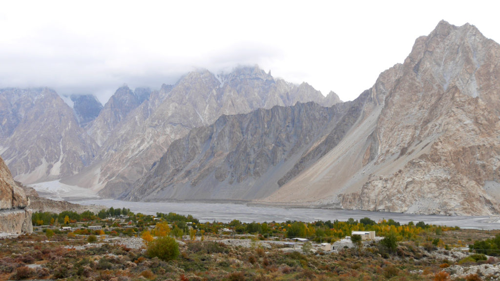 View over Passu from the trail