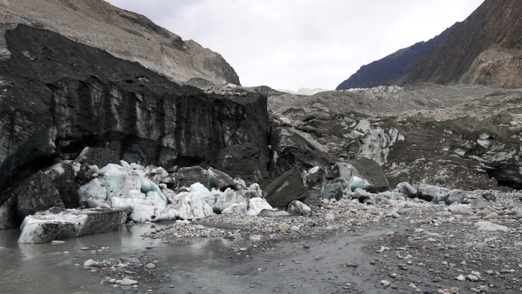 The beginning of the glacier