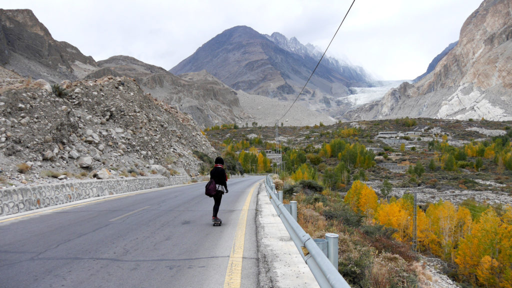 In the distance you can see the Passu Glacier