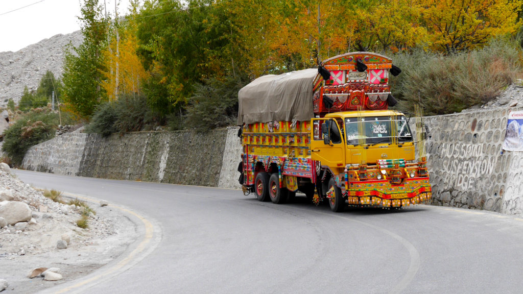 One of the first psychedelic Pakistani trucks we saw