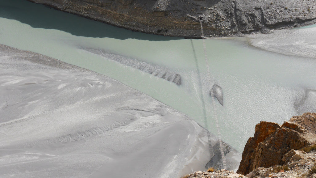 The looong Passu Suspension Bridge
