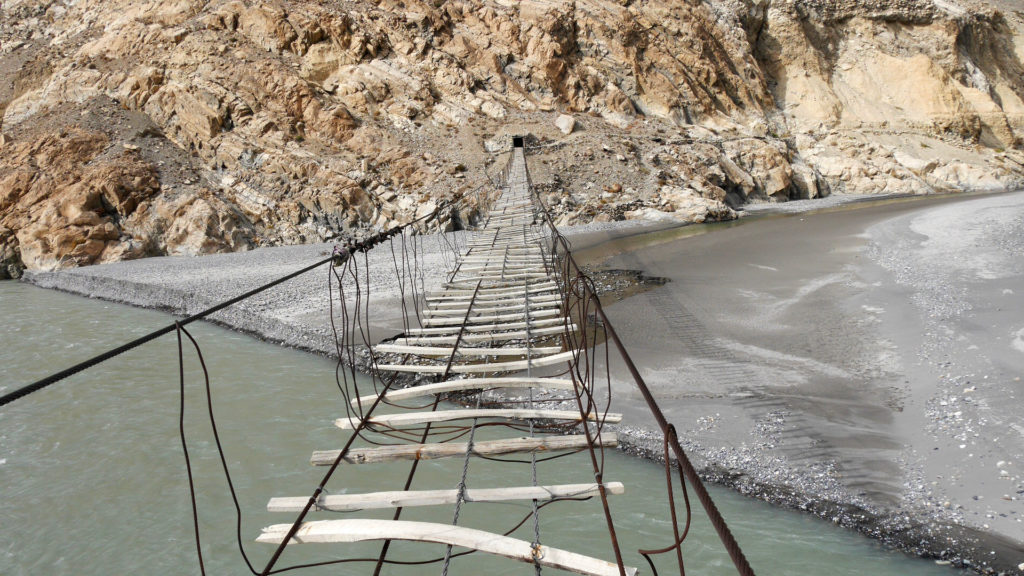 The Passu Suspension Bridge