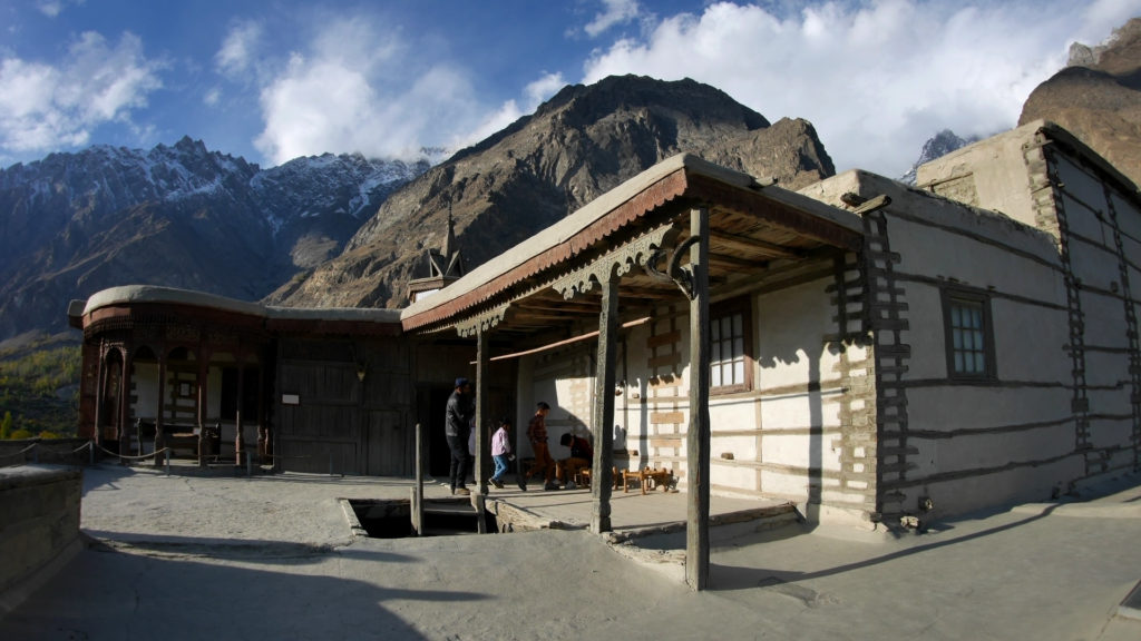 On the roof of Baltit Fort