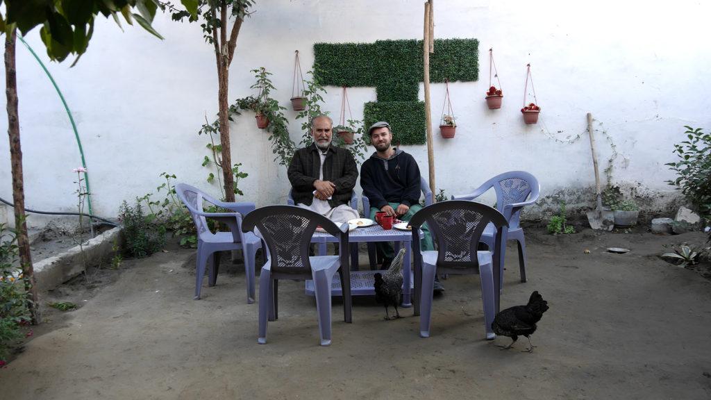 In Jamil's garden