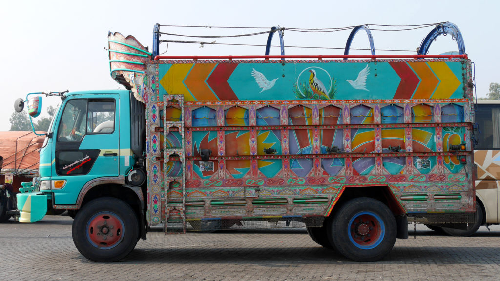 As we had left the Karakoram Highway, this was the last colorful Pakistani truck we saw