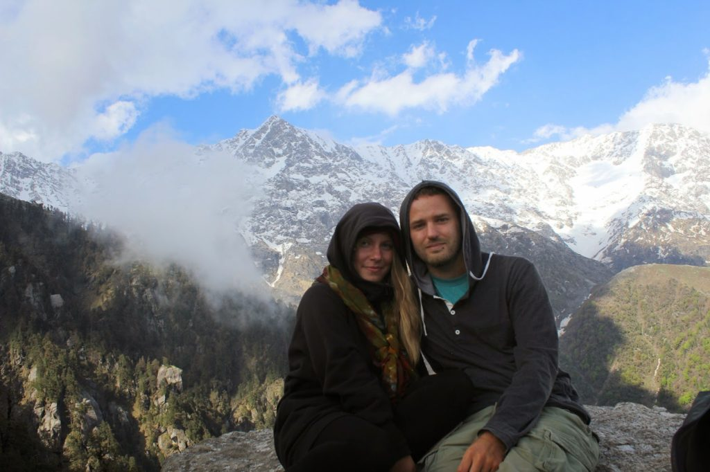 Young us five years ago at the Triund Hill. Btw, Seri is ecologically still traveling with the same clothes :-D