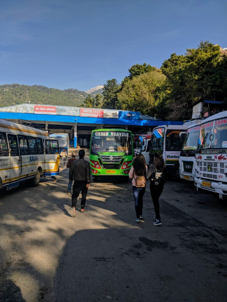 Bus station in the Lower Dharamshala