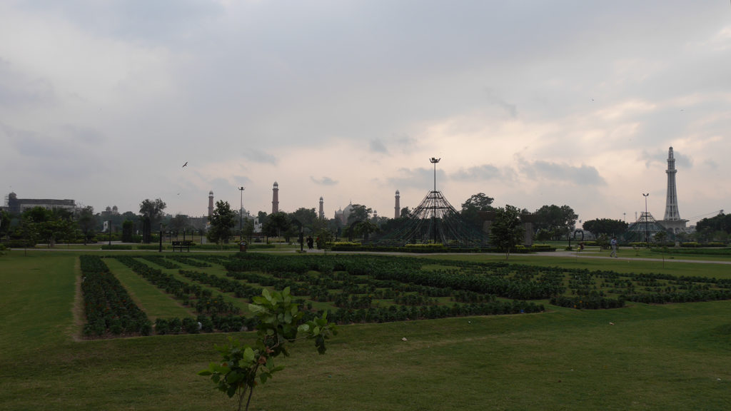 The Eiffeltower of Lahore (on the right side) in the Iqbal Park