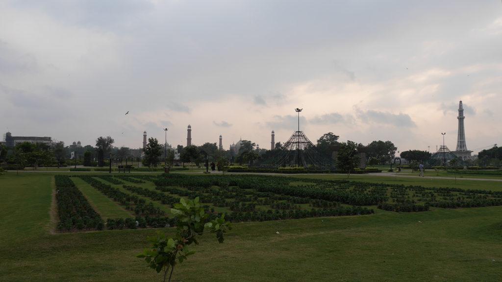 "Lahoren ""Eiffel-torni"" Iqbal-puistossa"
