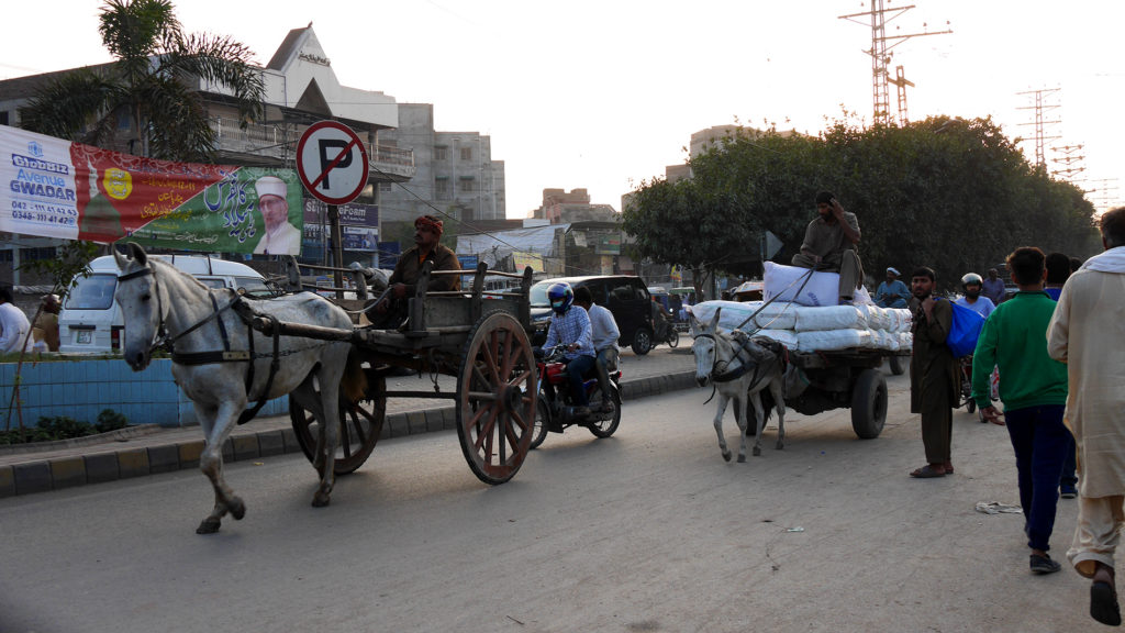 You can see all modes of transport on the streets of Lahore