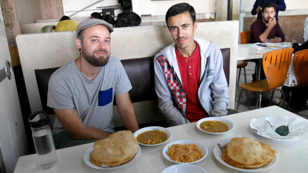 Halva Puri with Salman