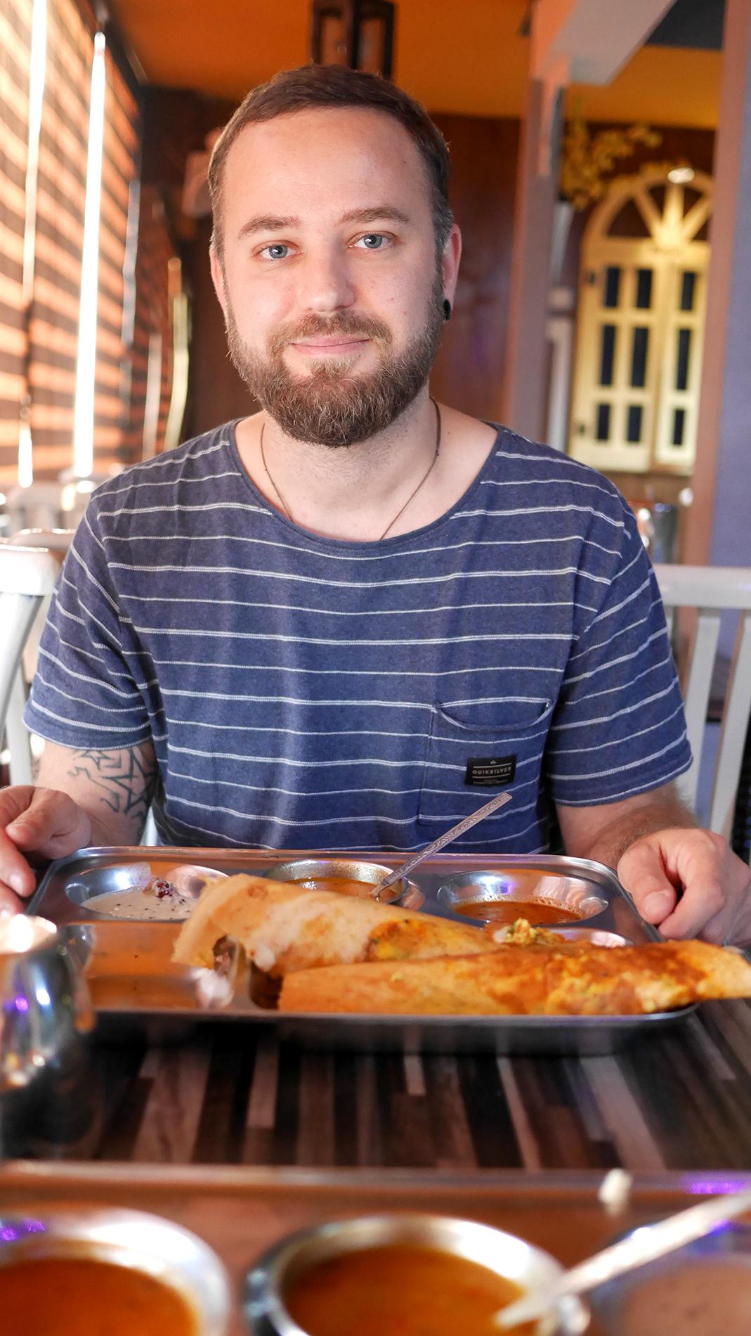 """Masala Dosa in the """"Bombay something"""" restaurant"""
