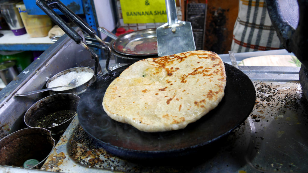 Paratha is a nice Indian snack/breakfast item, also available in Dharamshala