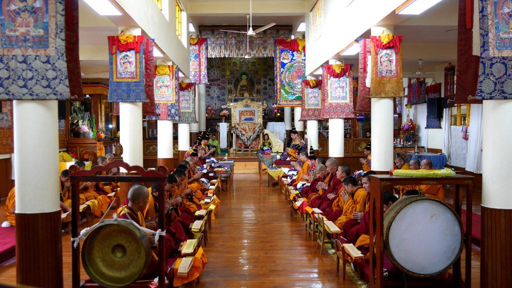 Prayer hall of of Dalai Lama's temple