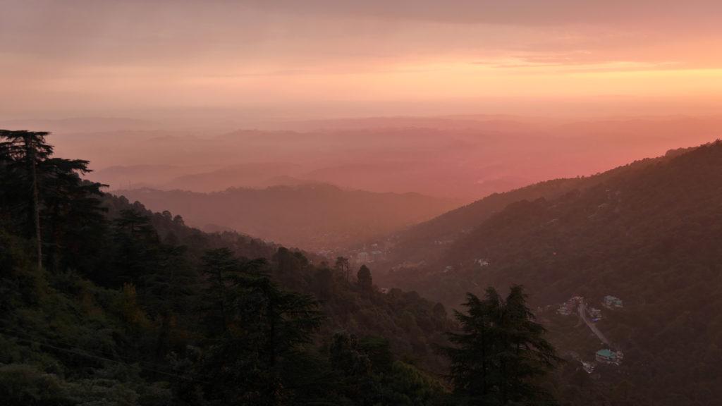 We saw many magical sun set in Dharamshala