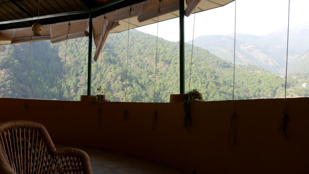 The Himalayan Heritage Hostel had a beautiful balcony