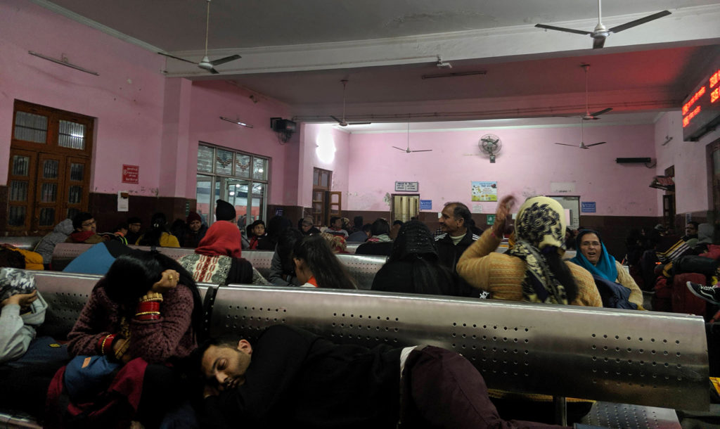 We spent around three hours in this cozy waiting hall