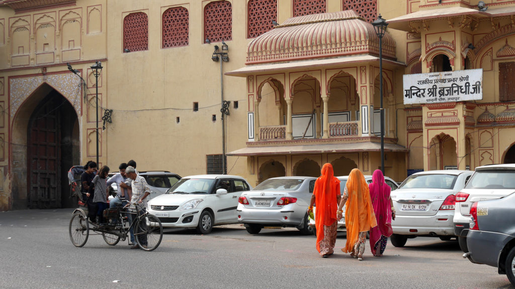 Die Straßen in Jaipur waren wunderschön
