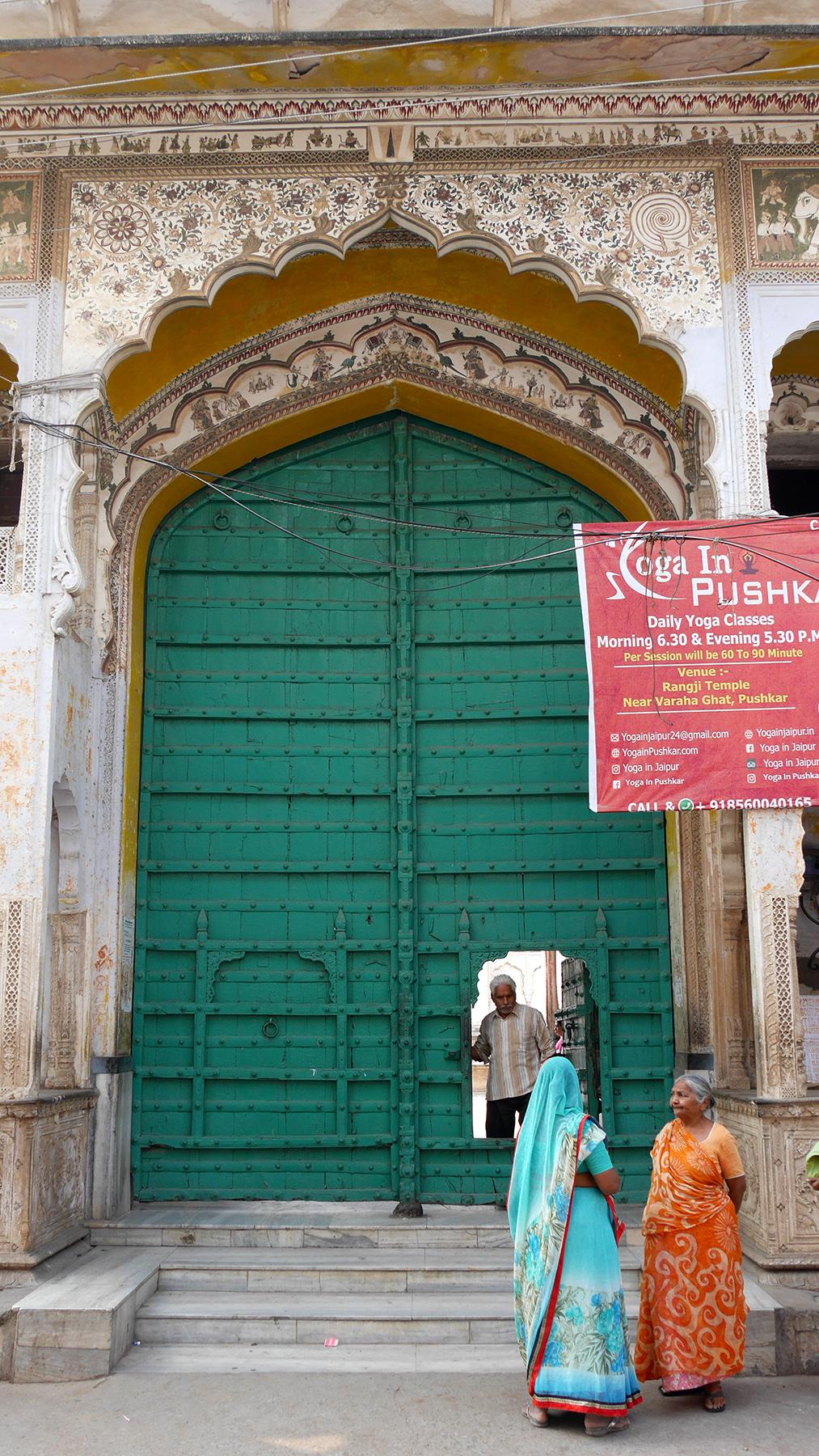 The beautiful door leading to Rangji temples yard