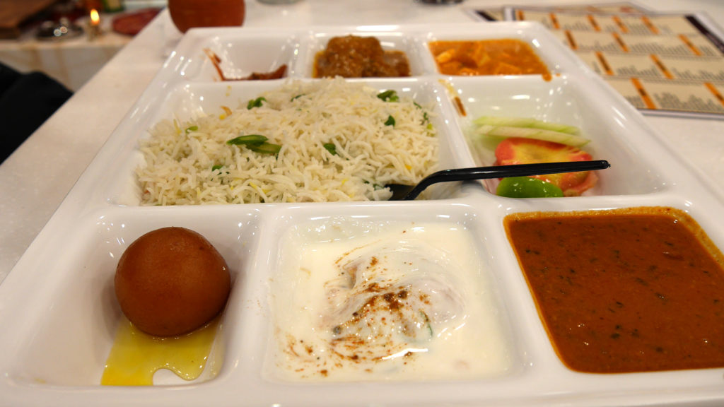 This was seriously one of the tastiest thalis ever