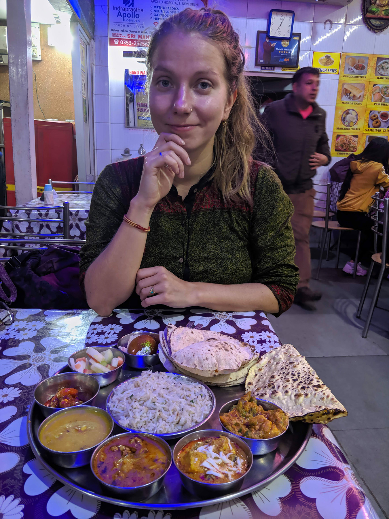 This Thali in New Jalpaiguri was big enough for us two for dinner