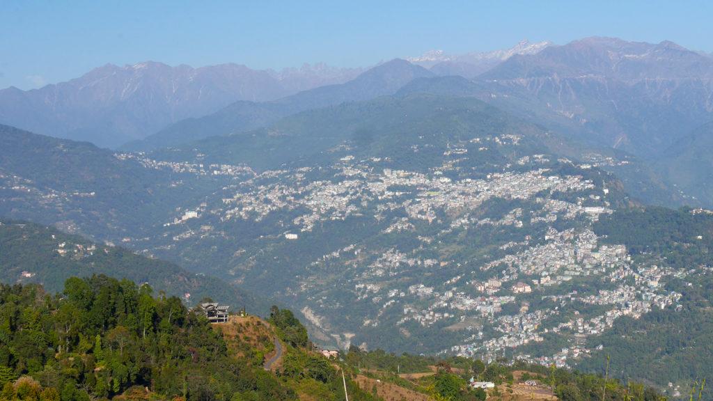 City of Gangtok seen from Rumtek Monastery