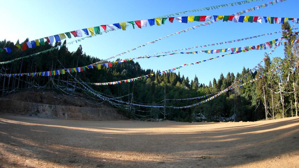 The monastery's football field