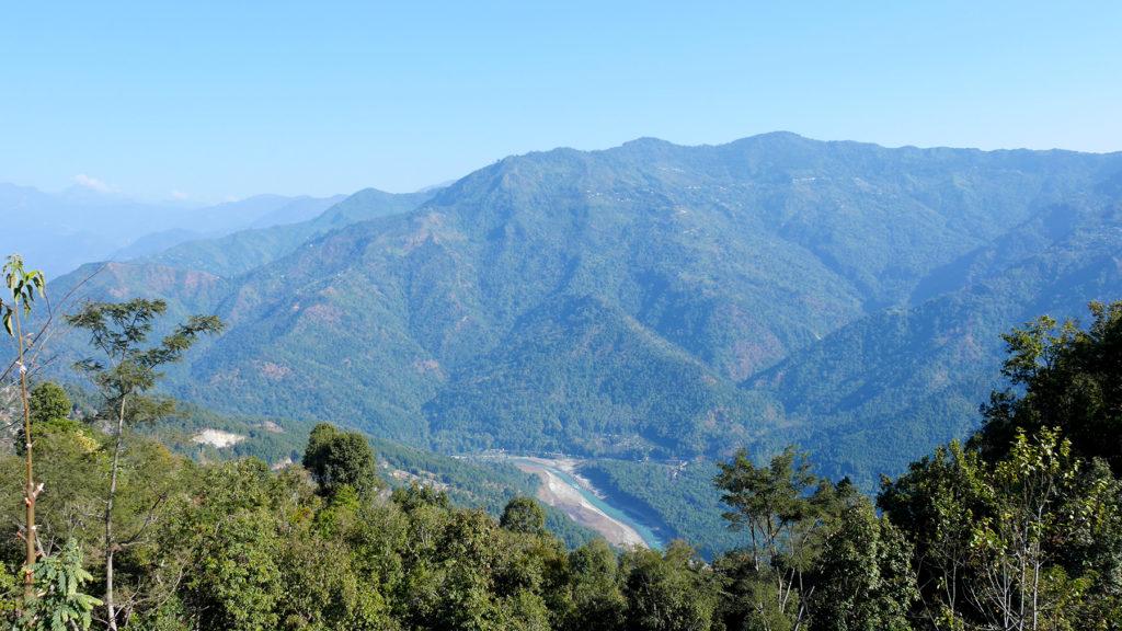 Maisemia matkalla Gangtokista Namchiin
