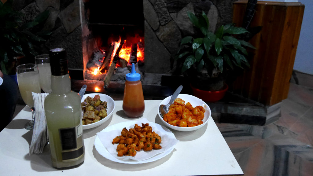 New Year's snacks and the wonderful Guava wine