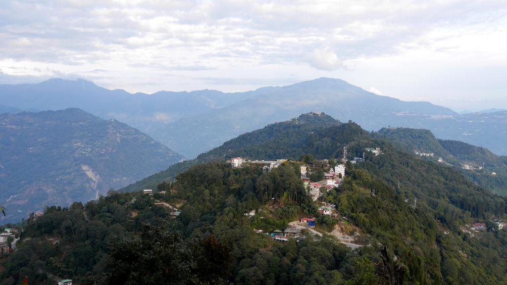 Blick vom Kloster auf Pelling