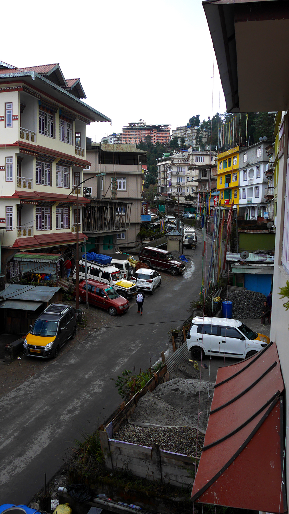 Town of Pelling. All these buildings are hotels.