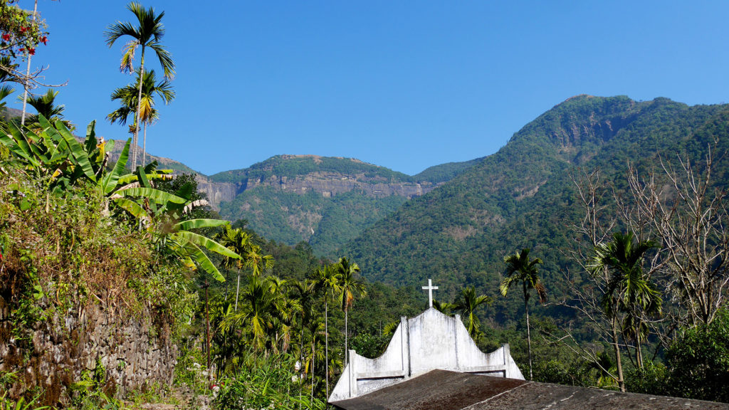 There are Christian churches even in the small, remote villages