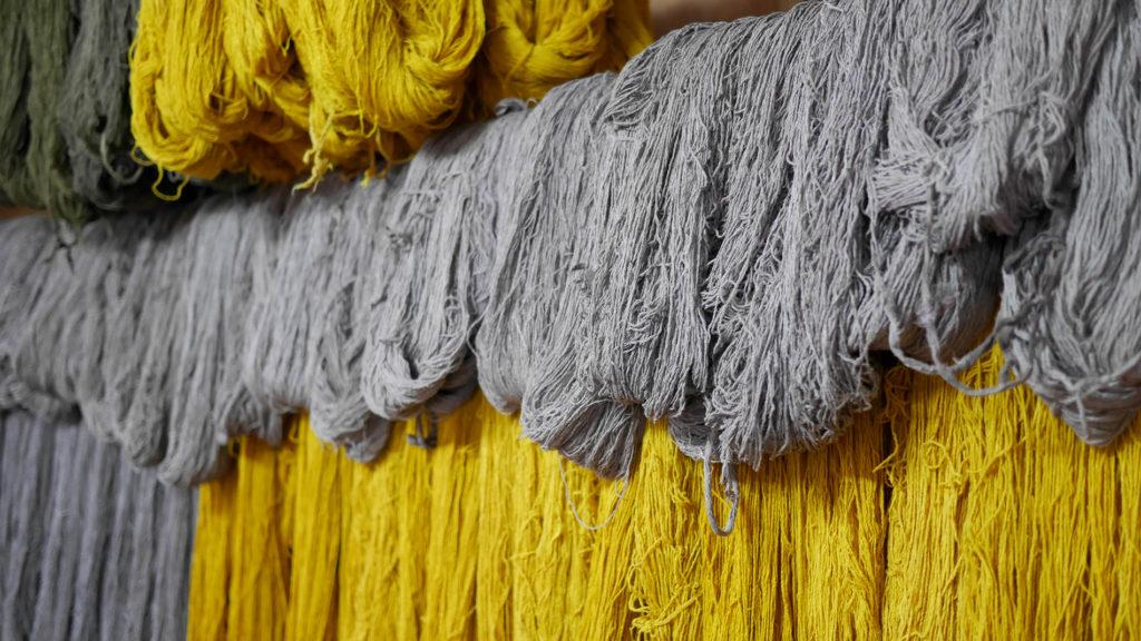 Naturally dyed Eri Silk yarn