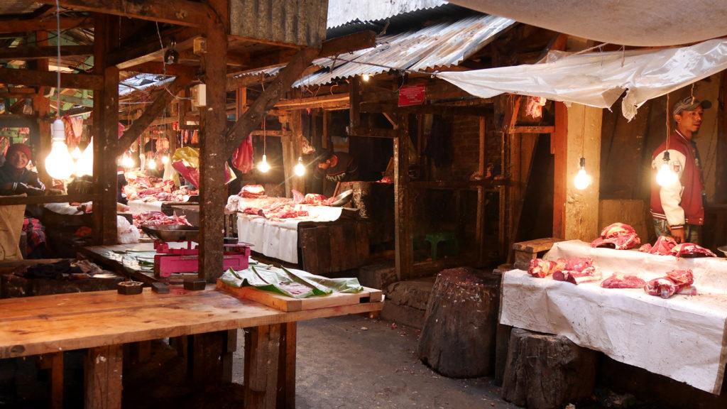 Der Fleischerei-Bereich des Marktes