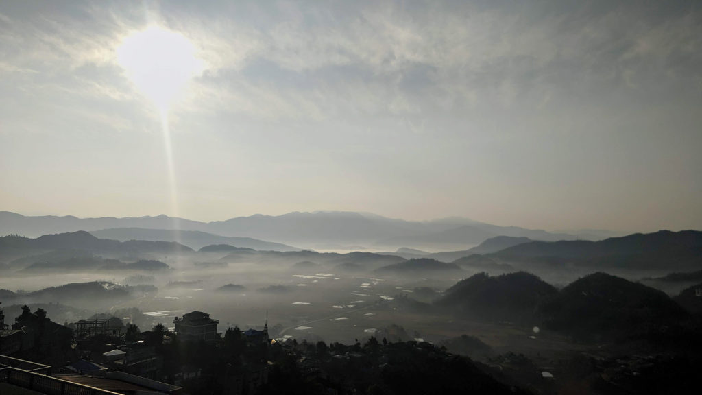 The view from our hotel's rooftop to the surrounding Champhai region