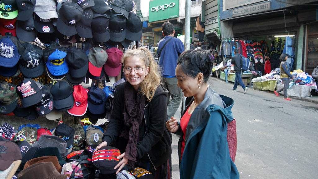 Shopping at Aizawl's market. There you can buy many souvenirs with beautiful traditional Mizo patterns