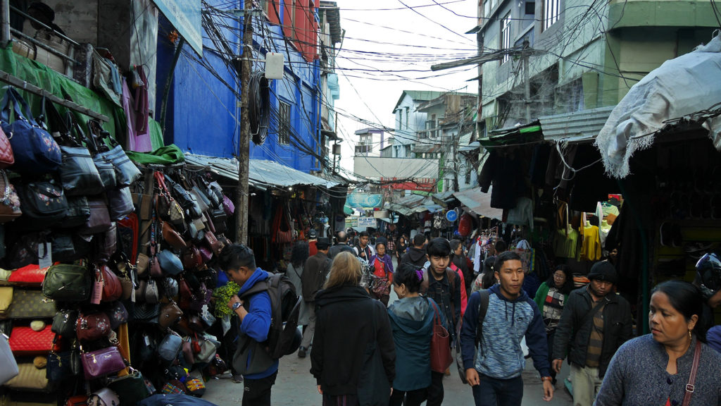 Even though Aizawl is peaceful in the evening, the market was a busy place at day time