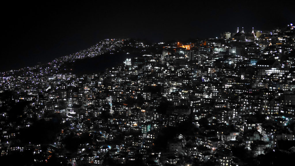 Aizawl at night
