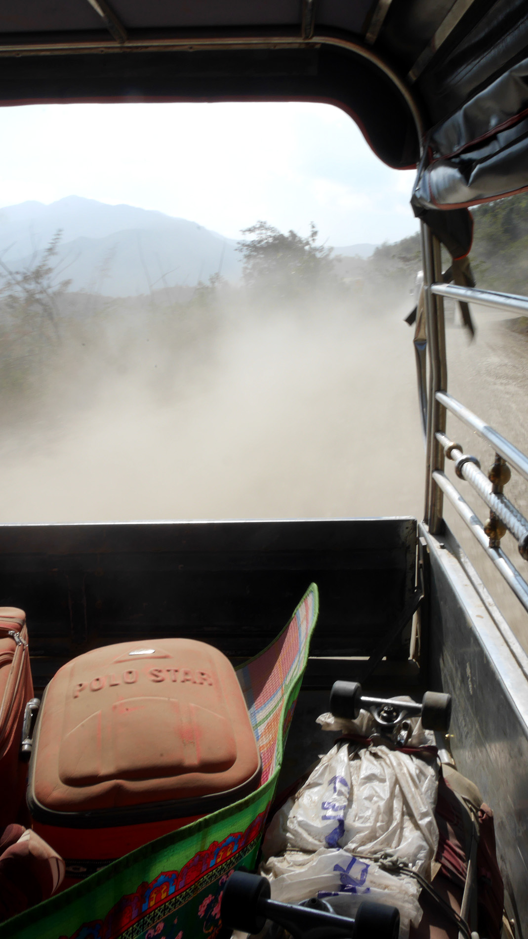 We were covered with dust by the time we reached Tedim