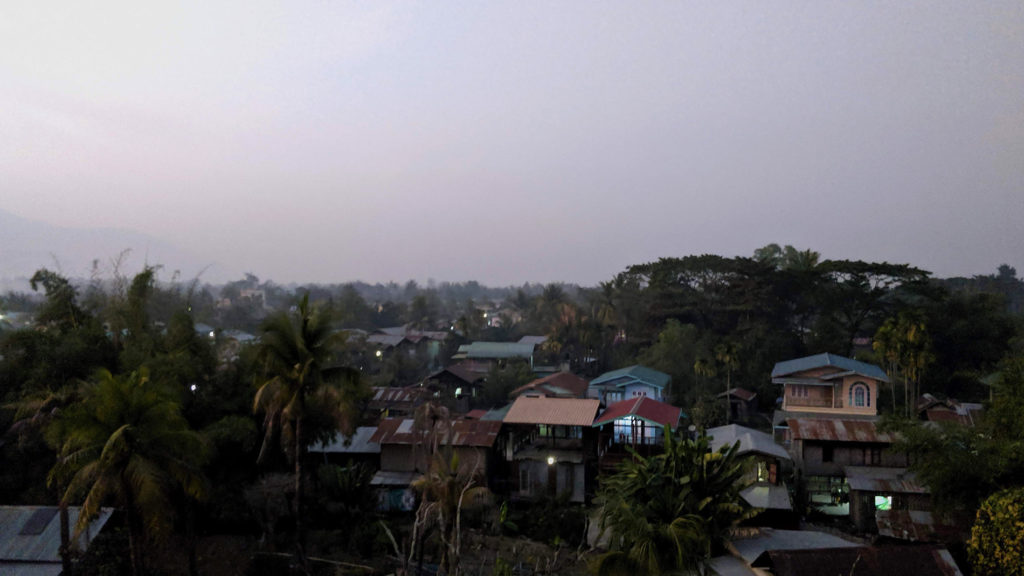 The evening in Kalay looked, felt and sounded like South-East Asia