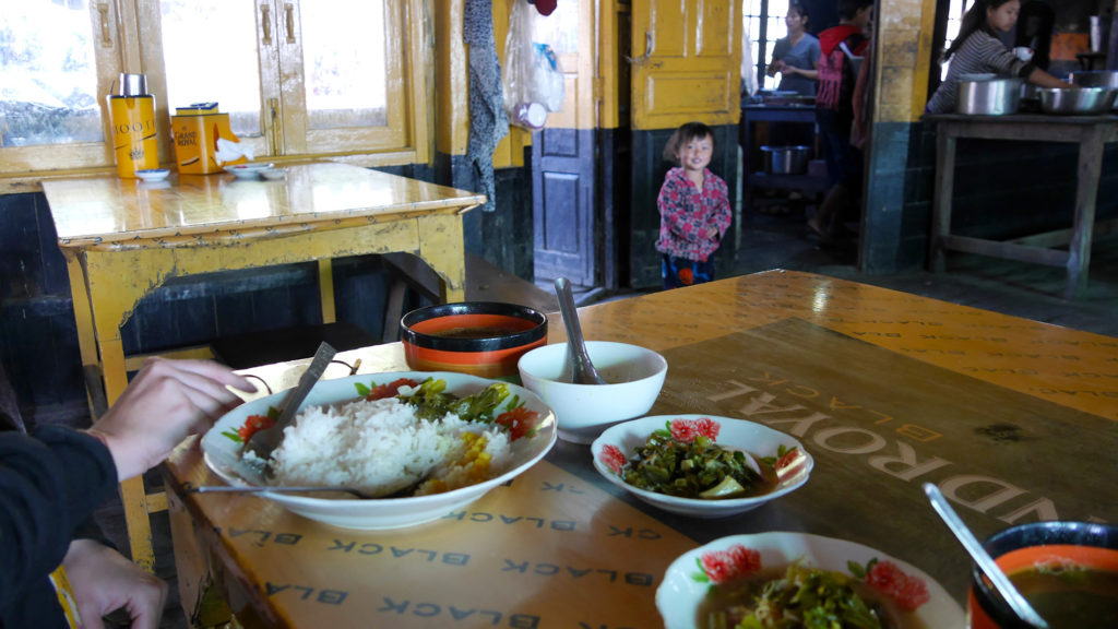 Our first traditional vegetarian Burmese meal